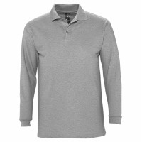 Рубашка поло мужская с длинным рукавом WINTER II 210 серый меланж