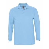 Рубашка поло мужская с длинным рукавом WINTER II 210 голубая