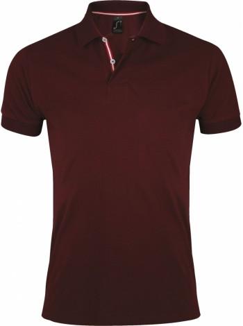 Рубашка поло мужская PATRIOT 200, бордовая оптом