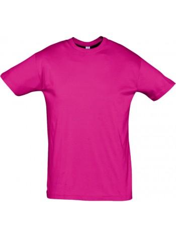 Футболка REGENT 150, ярко-розовая (фуксия) оптом