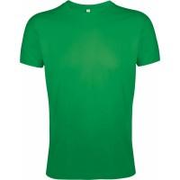 Футболка мужская приталенная REGENT FIT 150, ярко-зеленая