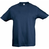 Футболка детская REGENT KIDS 150, синяя (джинс)
