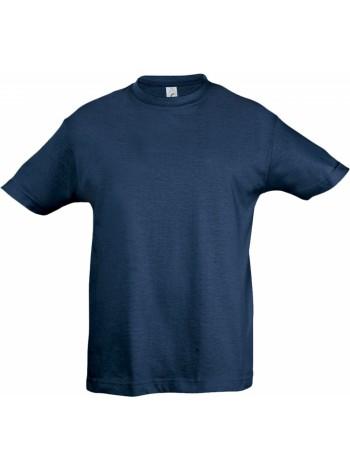 Футболка детская REGENT KIDS 150, синяя (джинс) оптом