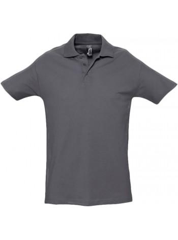 Рубашка поло мужская SPRING 210, темно-серая оптом