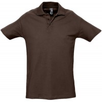 Рубашка поло мужская SPRING 210, шоколадно-коричневая