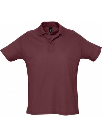 Рубашка поло мужская SUMMER 170, бордовая оптом