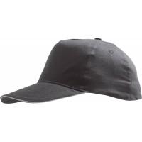 Бейсболка SUNNY, темно-серая со светло-серым