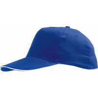 Бейсболка SUNNY, ярко-синяя с белым