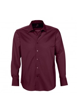 Рубашка мужская с длинным рукавом BRIGHTON, бордовая
