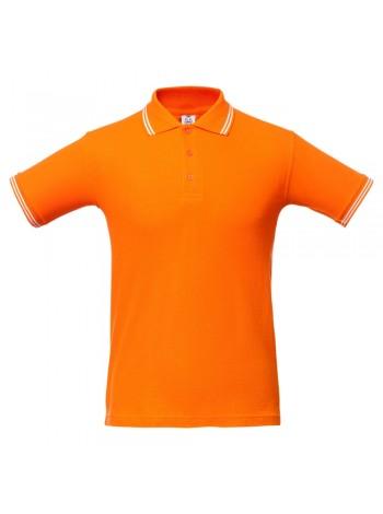 Рубашка поло Virma Stripes, оранжевая оптом