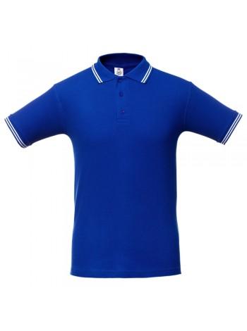 Рубашка поло Virma Stripes, ярко-синяя оптом