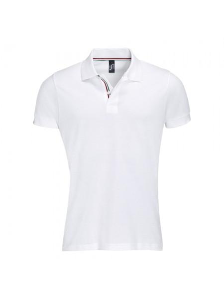 Рубашка поло мужская PATRIOT 200, белая с красным