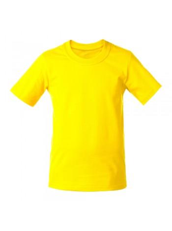 Футболка детская T-Bolka Kids, желтая оптом