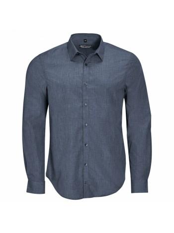 Рубашка BARNET MEN синий меланж (джинс) оптом