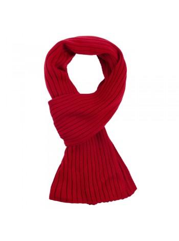Шарф Stripes, красный (алый) оптом