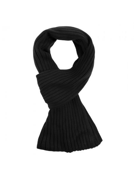 Шарф Stripes, черный