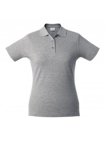 Рубашка поло женская SURF LADY, серый меланж оптом