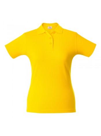 Рубашка поло женская SURF LADY, желтая оптом