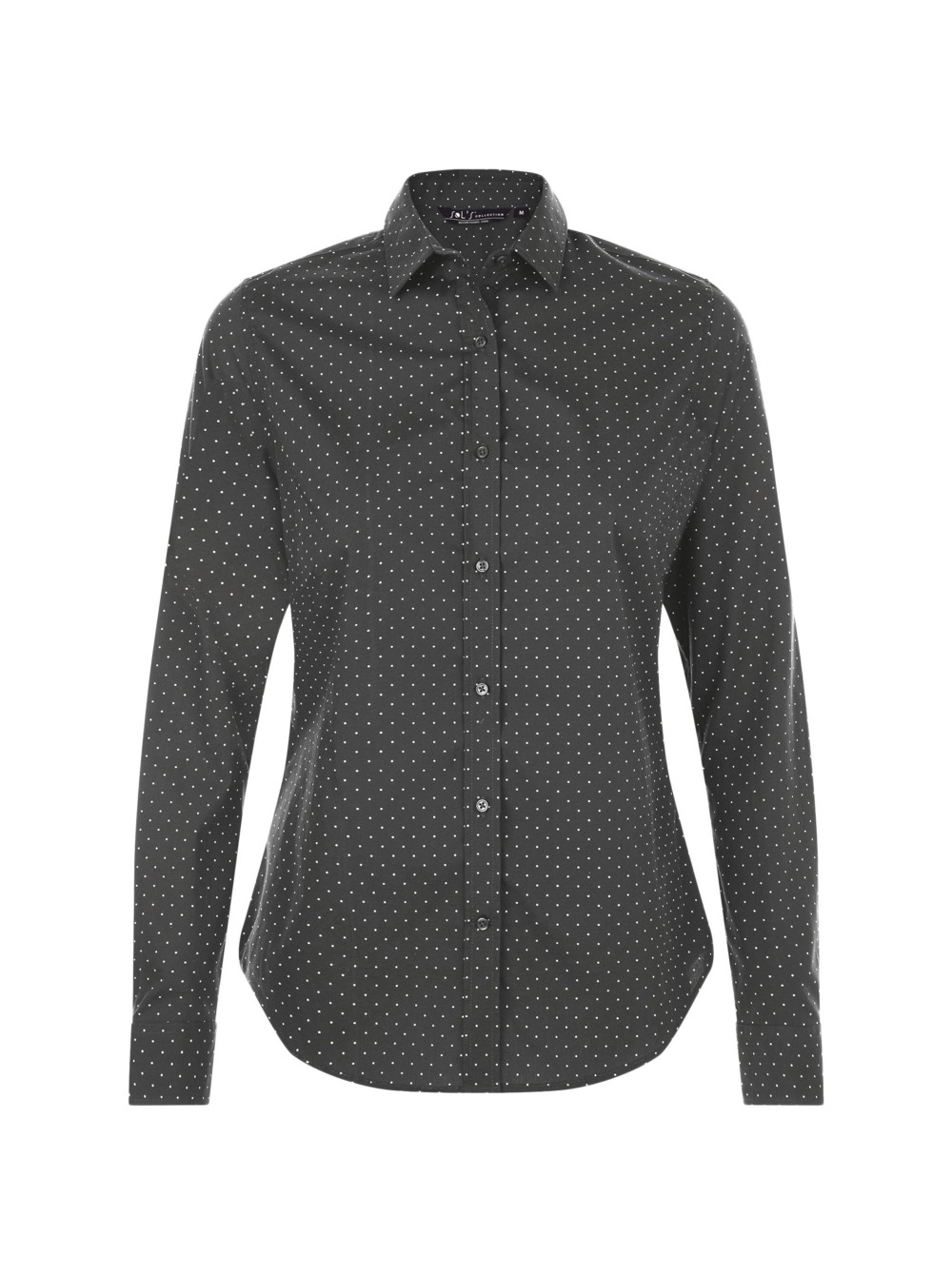 700b6b525d7f Рубашка женская BECKER WOMEN, темно-серая с белым оптом