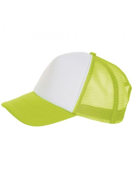 Бейсболка BUBBLE, зеленый неон с белым