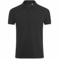 Рубашка поло мужская PHOENIX MEN, черный меланж