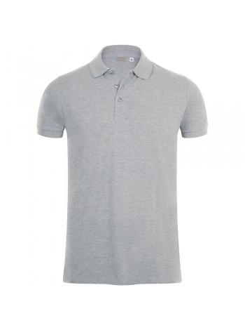 Рубашка поло мужская PHOENIX MEN, серый меланж оптом