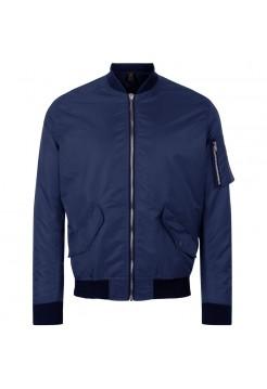 Куртка бомбер унисекс REBEL, темно-синяя