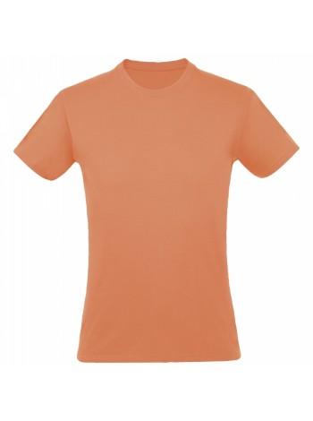 Футболка REGENT 150, оранжевая (абрикосовая) оптом