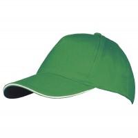 Бейсболка LONG BEACH, ярко-зеленая с белым