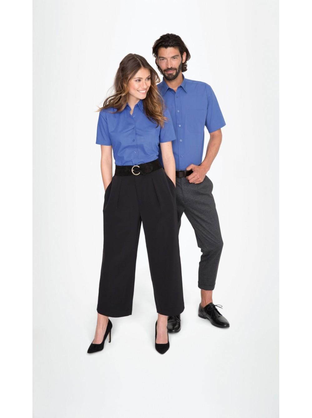 294327e8ac8 Рубашка женская с коротким рукавом ENERGY черная Sol s купить оптом ...