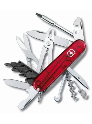 Офицерский нож CyberTool L, прозрачный красный