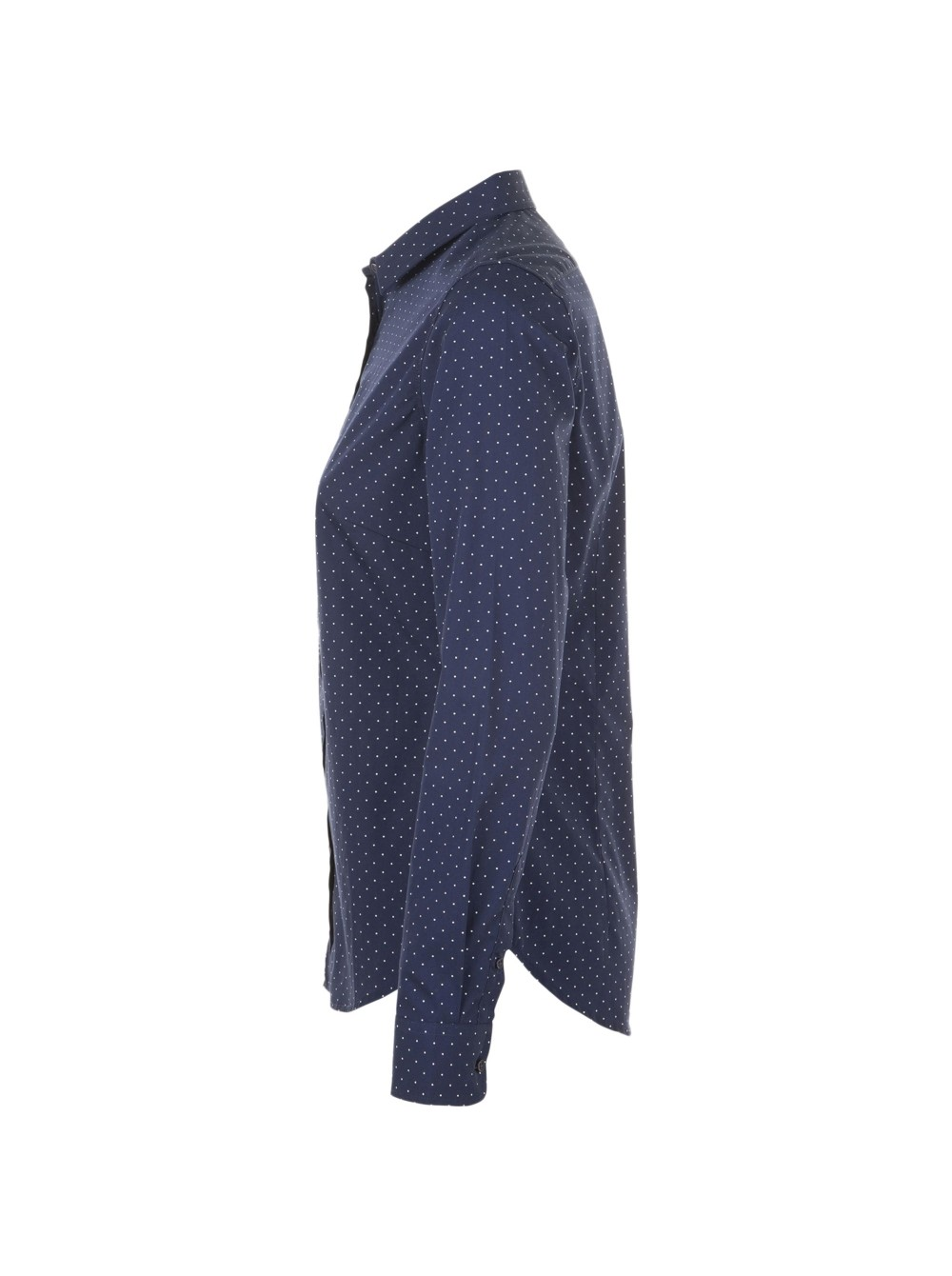 ddb6f53fdd47 Рубашка женская BECKER WOMEN, темно-синяя с белым оптом