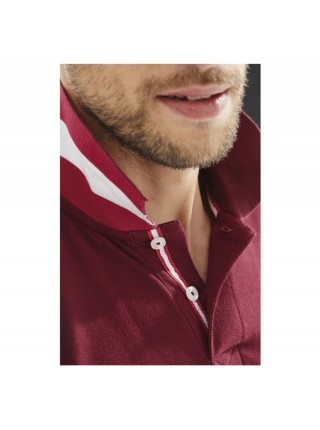 Рубашка поло мужская PATRIOT 200, красная с черным